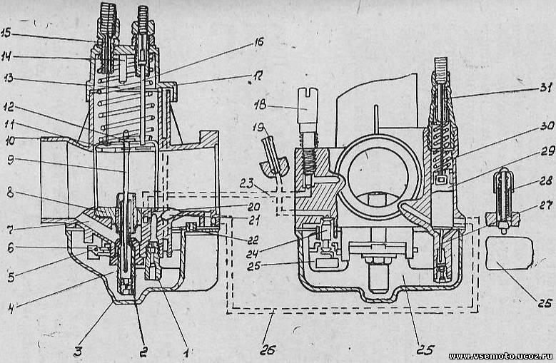 Карбюратор К-62